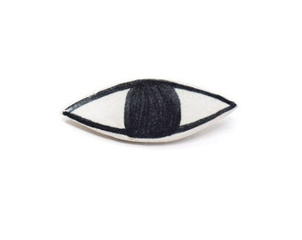 Ceramic Eye Brooch