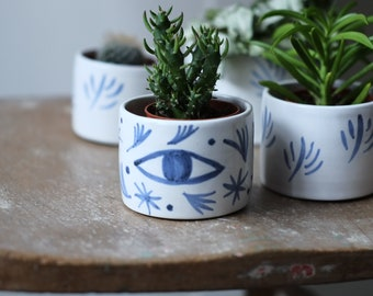 Ceramic Planter- 'Tide Mills'