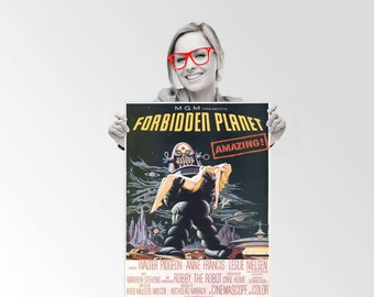 Forbidden PLanet movie Poster - Custom Geek Typography Quote  Wall Art Poster