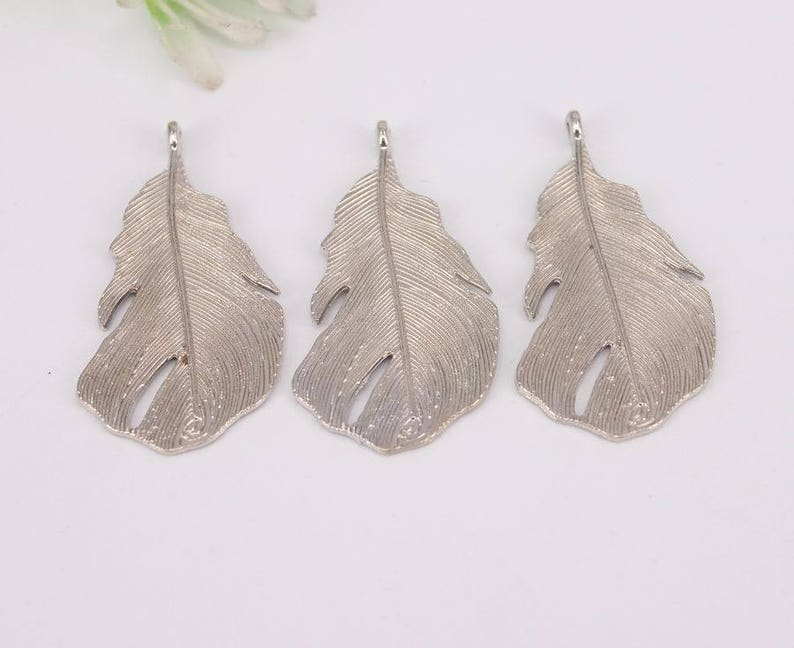 30-50pcs Mix Plated Metal Leaf Pendant beads fit European Necklaces jewelry findings