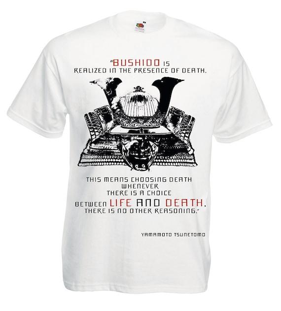 Samurai shirt, yellow mens t shirt. Japanese inspirational quote tee shirts for warrior. Gift for guys, husband, boyfriend, father. Bushido