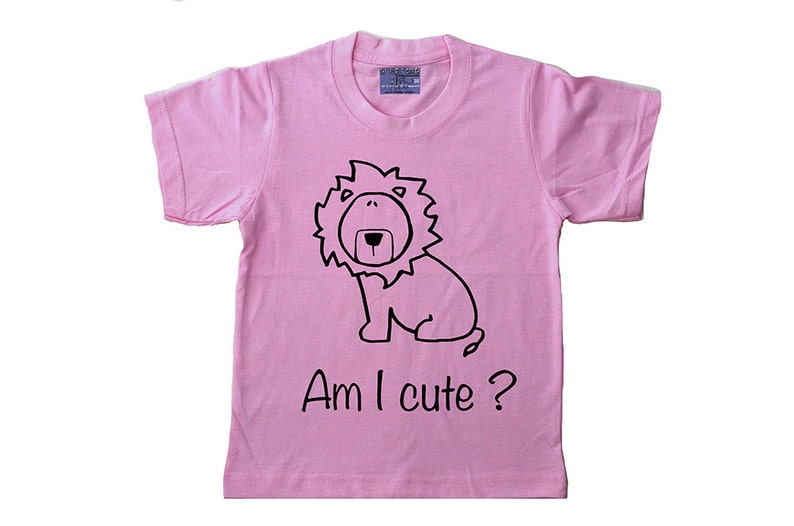 a9faa503986 Kids lion tshirts. Screenprint cute zoo animal t shirts for