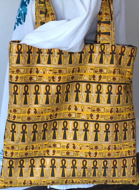 Reversible African print tote bag