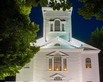 The Old Vermont Church - Vermont Photo Art Print