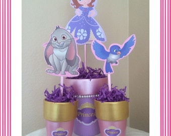 Sofia the First Centerpieces!  Customizable