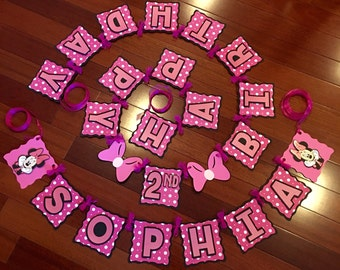Minnie Mouse Banner, Minnie Mouse Birthday Banner