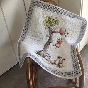 Winnie the Pooh heirloom baby quilt Winnie the Pooh baby quilt Winnie the Pooh nursery bedding playmat unisex baby quilt baby shower gift