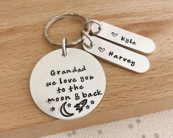 Grandad Gift Keyring For Grandpa Papa 70th Birthday Present Custom Gifts Man Personalised