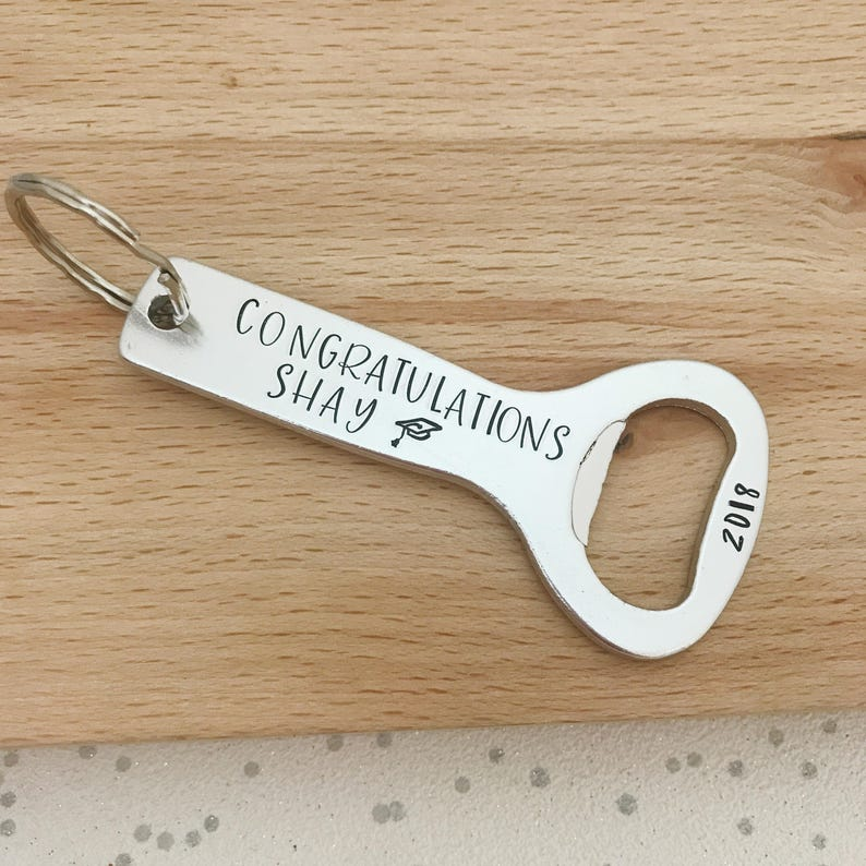 2b80cee54f003 Personalised Bottle Opener Keyring, Graduation Gifts For Him, Son  Graduation, Gift For Son From Mum, Mom, Dad, Personalised Graduation Gift