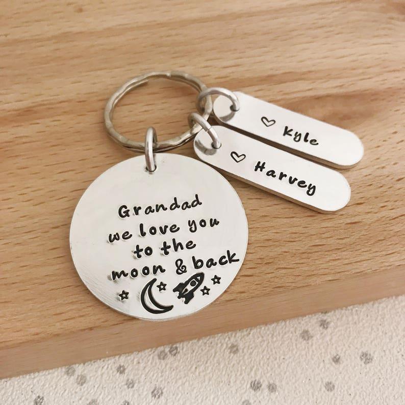 Grandad Gift Keyring For Grandpa Papa