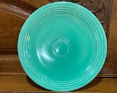 Rare Fiesta 12 Round GREEN CHOP PLATE Platter Cake Charger Homer Laughlin Original Color had this for years looks new great glaze