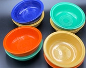 One 40s FIESTA WARE FRUIT 2 Sizes Fruit Bowl Homer Laughlin Company FiestaWare All Marked Fiesta Authentic Vintage - Size 5 1 2 or 4 3 4 quot