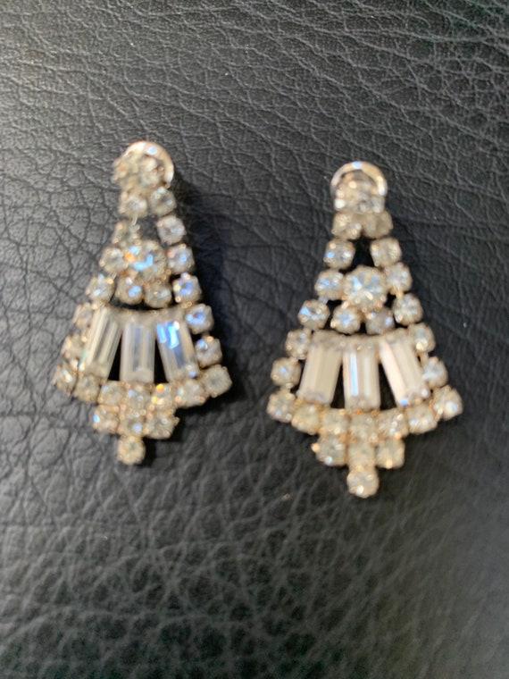 Vintage 1980s Rhinestone Earrings