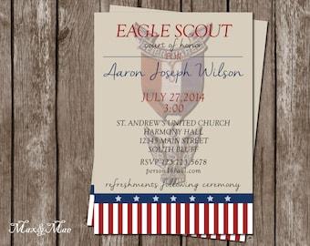Eagle Scout Invitation, Court of Honor, BSA Invite, Eagle Scout, Printable, Digital