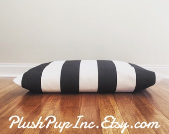 Stripe Dog Bed Cover, Cover for Dog Bed Pillow, Cabana Stripe Dog Bed Cover, Dog Bed Duvet, Durable dog bed cover, Modern dog bed cover