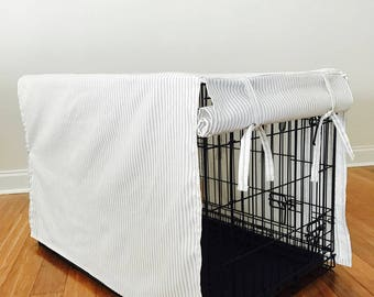 Crate Cover, Kennel Cover, Dog Crate Cover, Stipe Crate Cover, Dog Kennel Cover, Designer Crate Cover, Pet Kennel Cover