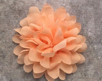 CLEARANCE Chiffon flower, large flower, red flower, lace flower, flower puff, flower supplies, DIY supplies,