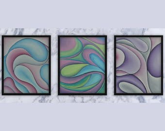 Abstract Waves III - Original Oil Painting