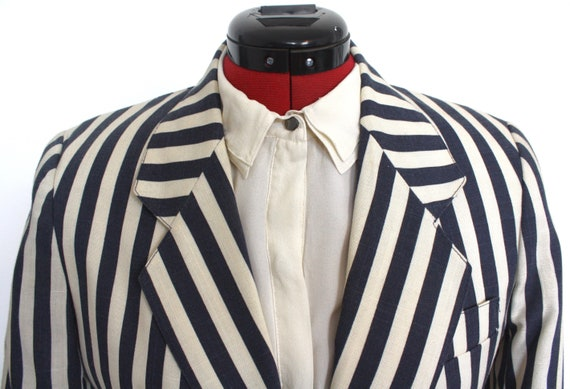 Striped 1980s Blazer