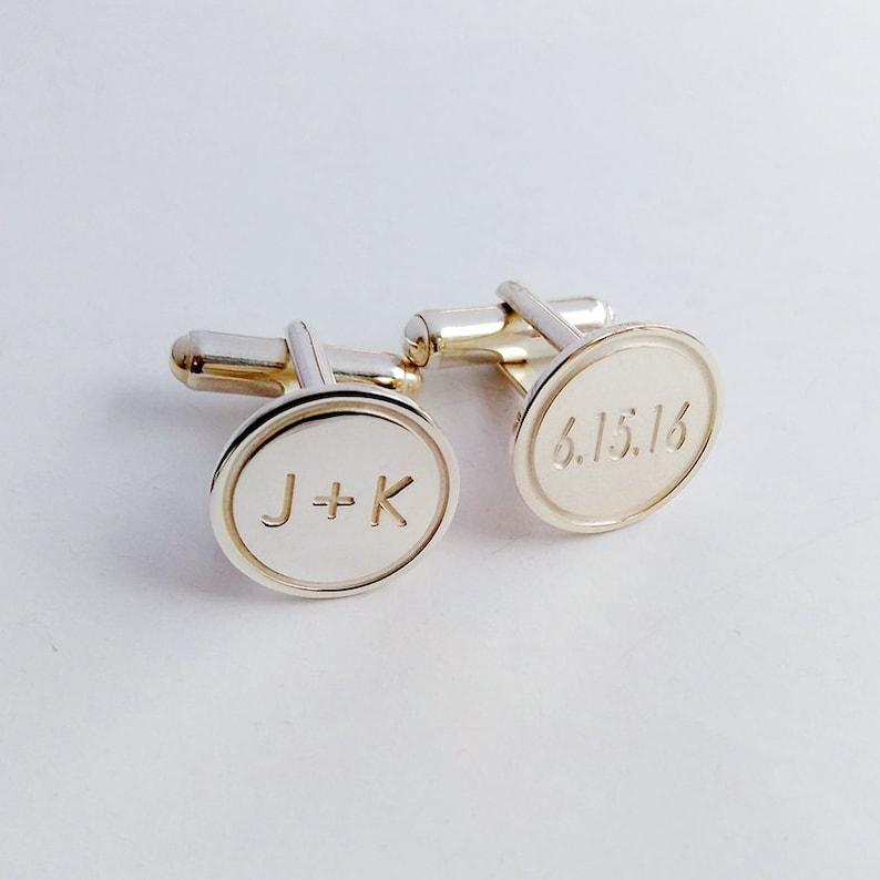 Personalized Wedding Cufflinks,Groom Wedding Cufflinks,Date and Initials Cufflinks,Engraved CuffLinks,Elegant Monogrammed Cufflinks