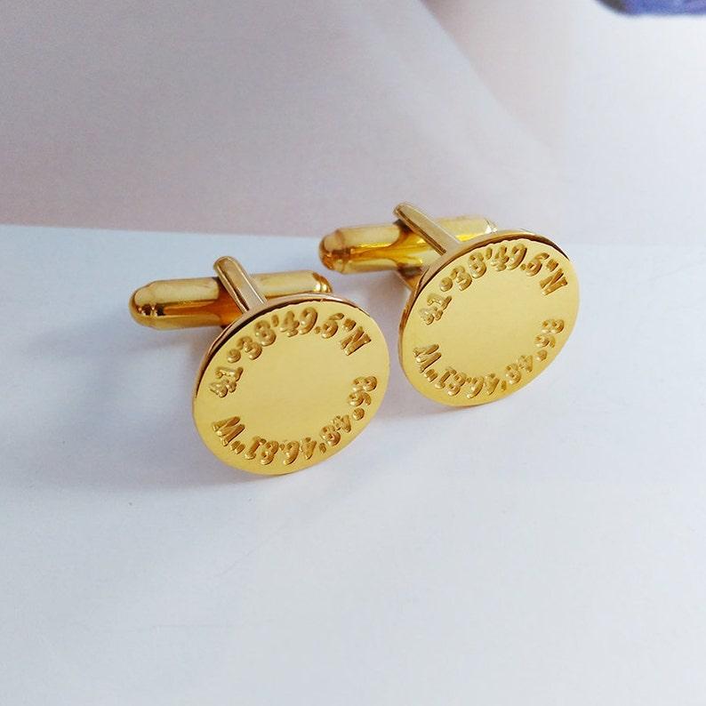 Personalized Coordinates Wedding Cufflinks,Engraved Latitude longitude Cufflinks,Anniversary Date Cufflinks,Groom Wedding Gift