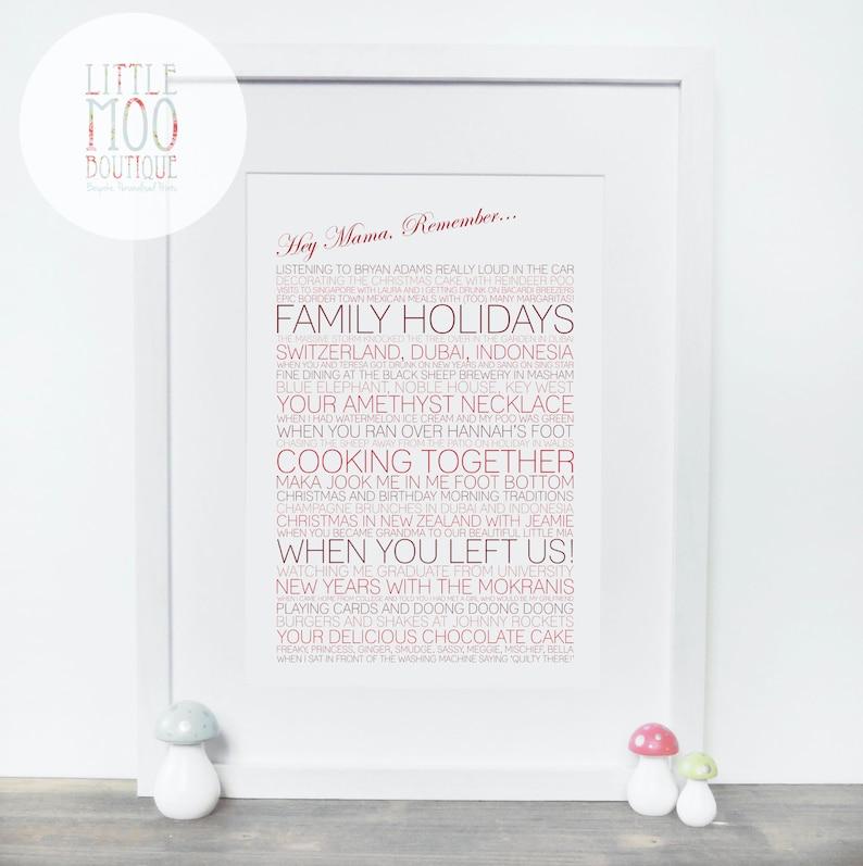 Memory Print Unique Gift Best Friend Ideas 30th