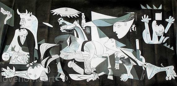 Peint pablo picasso Guernica 1937 à la main peinture à lhuile | Etsy