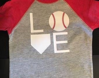 Baseball Love Kids Shirt