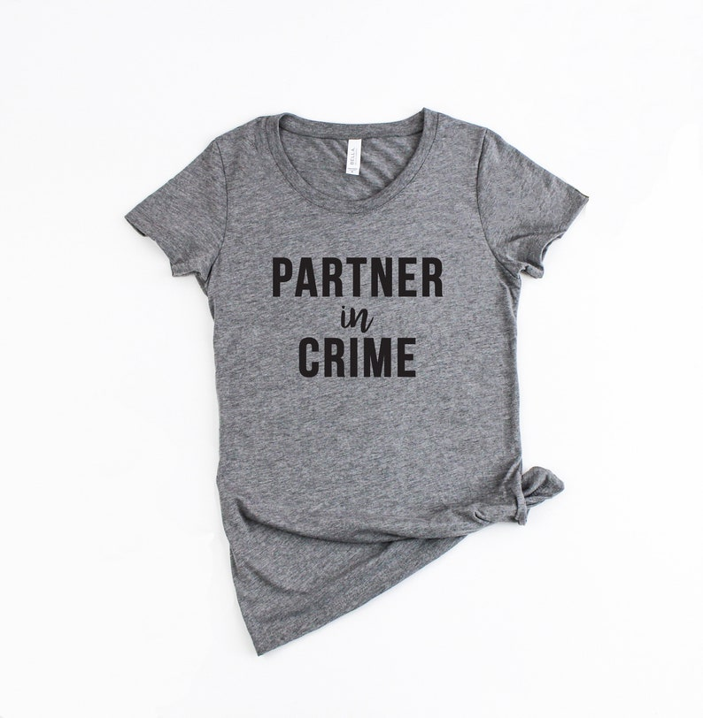 Shirt TroubleEtsy Bff In Shirts Partner Bestie Crime gvy6IYb7f