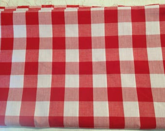 Vintage 3 1/8 yards Large square gingham check