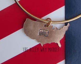 4th of July Bracelet, Fourth of July Bracelet, Charm Bracelet, American Flag Jewelry, 4th of July Jewelry, 4th of July Gift, Gift for her