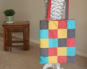 Hand Stitched Patchwork Shoulder Bag (Free P&P)