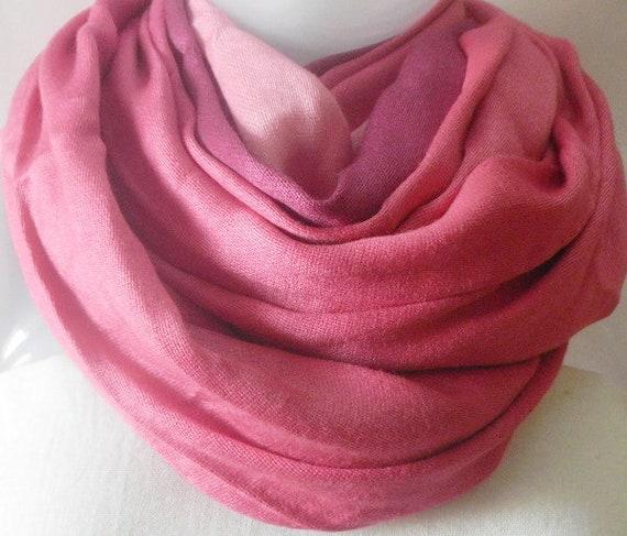 6b7caa491b2 Two tone Pashmina Scarf Baby Pink Magenta Pashmina shawls