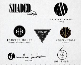 custom logos premade logos typograghy logos by mfgraphics