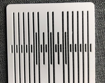Band weaving heddle, five pattern threads