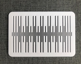 Band weaving heddle, 13 pattern threads