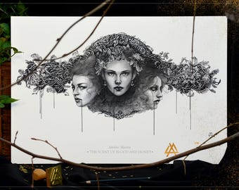 A3 Art Draw: The Scent of Blood and Honey - Limited Series of 100 copies, numbered, stamped and autographed prints