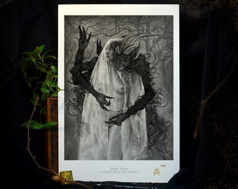 A3 Art Draw: I Slept with the Devil - Limited series of 100 copies, numbered prints, stamped and autographed