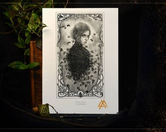 A4 Art Drawing: Alvearia - Stamped and Signed Drawings