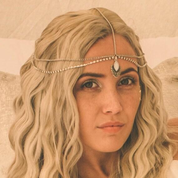 Forehead Chain Bridal Hairchain Indian Maang Hair Indian Etsy