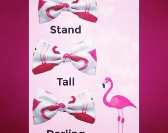Fabric Bow/flamingo/Nylon Headband/bird/pink/Newborn/Photoshoot/Preemie/Simple/summer/Baby headbands/girls/pink/white