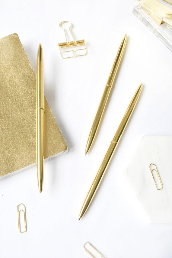 Hochzeit Gästebuch Stift Slim Gold Feder Heu Stil | Etsy