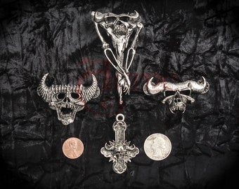 Danzig 4 piece denim / leather jacket Pinback set . Samhain misfits Lucifuge thrall scarcrow gods kill