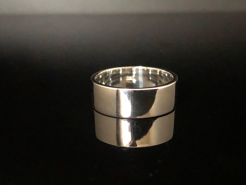7mm Silver Flat Band Ring  925 Sterling Silver  Cigar Band Ring  Medium Wide Silver Band Ring  Flat Band Silver Ring