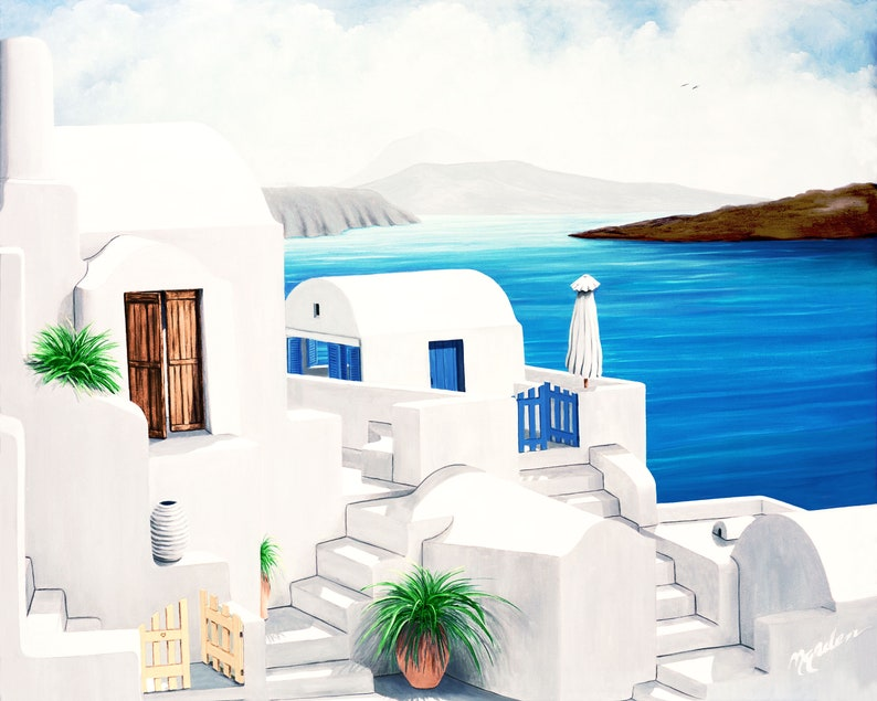 On Oia eeahSantorini GICLEE Canvas and Paper image 0