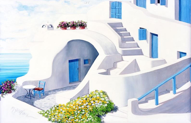GICLEE PRINTSSunlit in SantoriniCanvas-Paper image 0