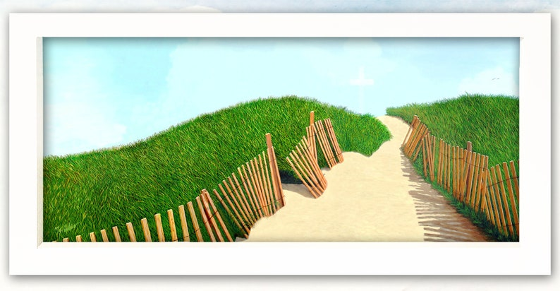 Giclee Printmade by ArtistWatercolor Paper. A Path of image 0