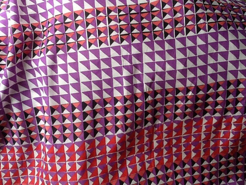 Fabric by the Yard Geometric Silk Fabric by the Yard Yardage Silk Yardage