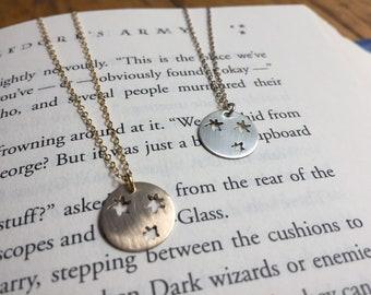 Harry Potter Book Stars Dainty Charm Adjustable Length Necklace