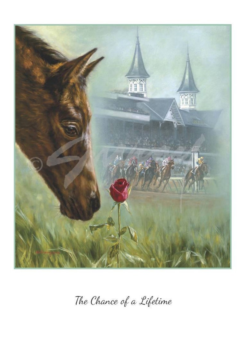 Kentucky Derby Pack of 12 Blank Note Cards The Chance of a Lifetime